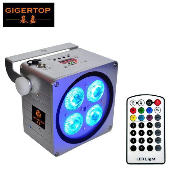 Gigertop-TP-B08-New-Silver-Color-Housing-4x18W-RGBWA-UV-6IN1-Indoor-Battery-Wireless-Led-Par